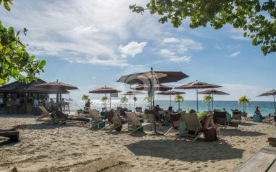 Sandy Haven Beach with Deckchairs