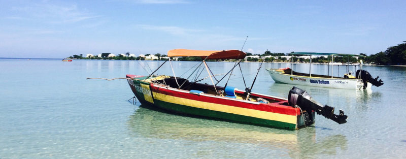 a boat on the waters of Negril beach