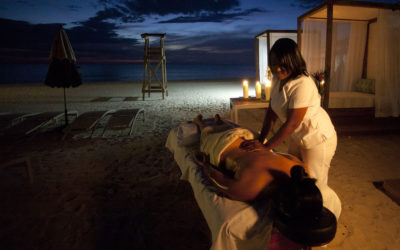 Massage on the beach