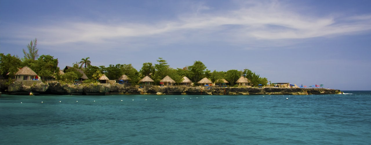 Huts on a beach in Negril