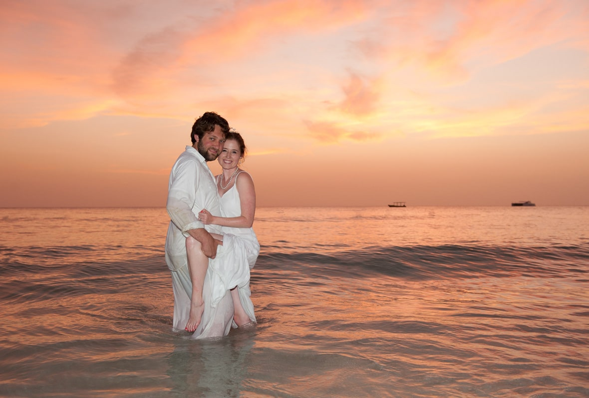 Married couple in the water